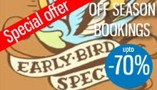 Special offer for booking off season